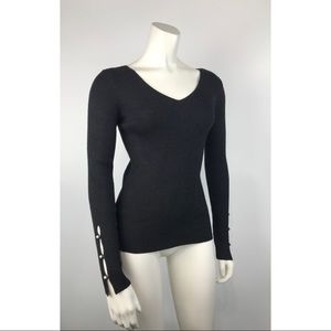 Ann Taylor pullover knit top sweater glitter
